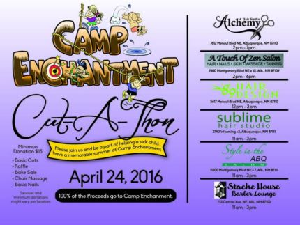 Camp Enchantment cut-a-thon flyer